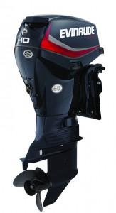 40 HP Evinrude E-TEC - Graphite Engine Profile